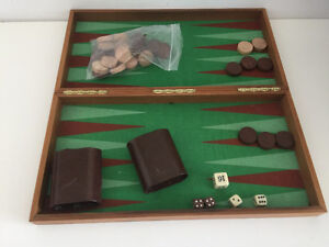 Wooden Backgammon game, Portable and travel friendly.