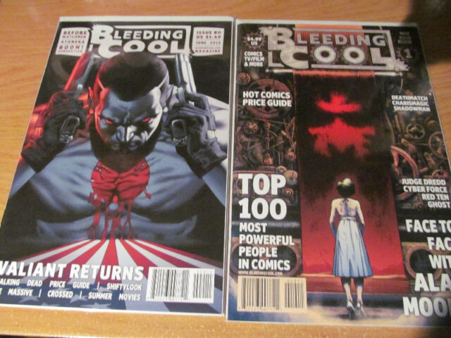 Bleeding Cool Magazines Issues #0-7 with Free Comic Book Day