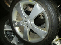 """17"""" MAZDA RIMS AND TIRES 205/50/17 5X114 17X6.5"""