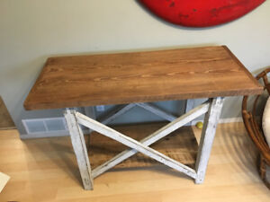Antique cross table
