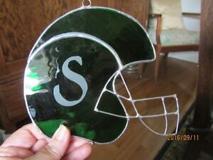 Stained Glass Suncatchers Football Helmuts Moose Jaw Regina Area image 1