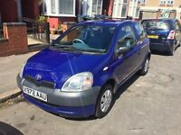 Toyota Yaris 2000 'X' Reg 35000 GENUINE MILES 3 KEYS 13 months MOT mint example 3 owners from new
