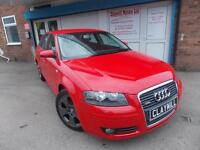 Audi A3 2.0 FSI Sportback Sport Petrol Manual 5 Door Red 2005 (05)