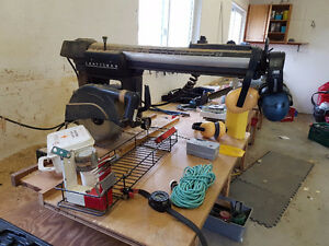 Radial Arm Saw, Router, Vice, Grinder and Drill Press