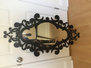 Cast-iron framed mirror