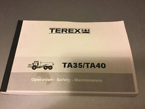 Terex TA35 / TA40 Articulated Dump Truck Maintenance Manual