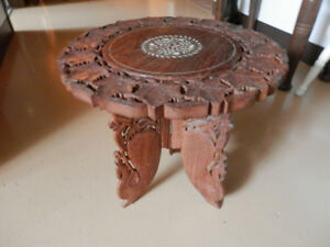 Carved Accent Table
