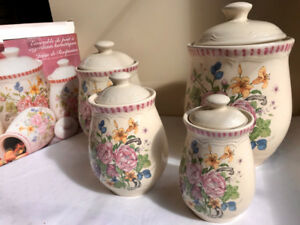 Rose Canister Set