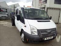 2014 FORD TRANSIT DOUBLE CAB TIPPER T350 RWD 100 6 SPEED