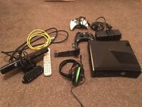 XBOX 360 with Kinect & 19 games. Many extras