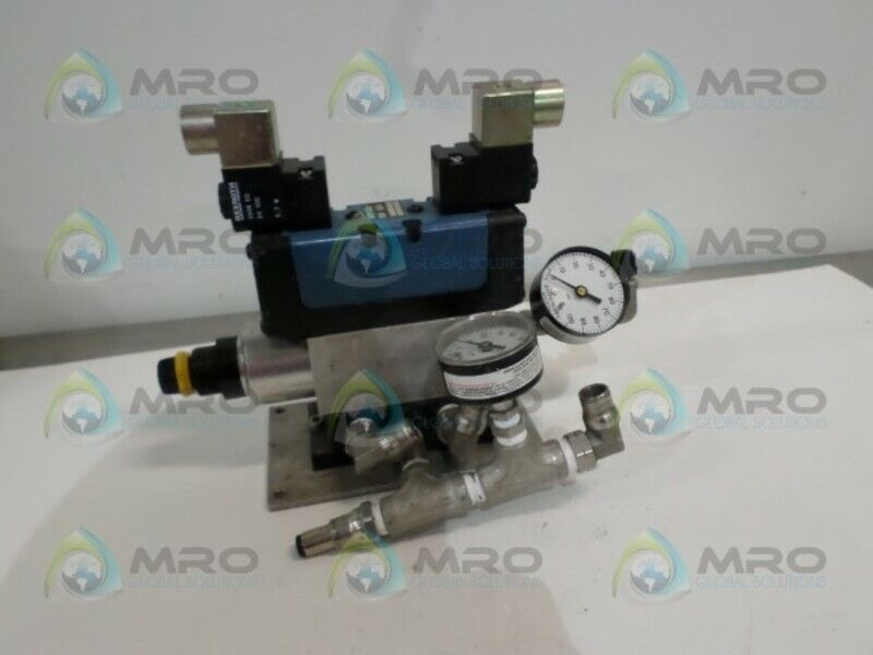 REXROTH P29879 SOLENOID VALVE (AS PICTURED) *USED*