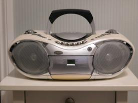 Goodmans GPS160R Portable CD Radio Cassette Player White