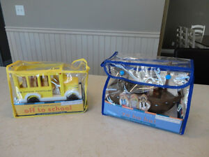 My Little School Bus & My Little Pirate Ship Wooden Magnetic Toy