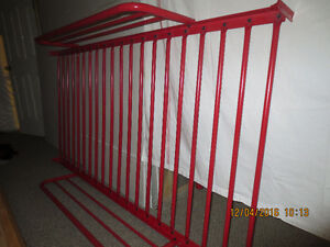BUNK BEDS WITH NEW SINGLE AND DOUBLE MATTRESS