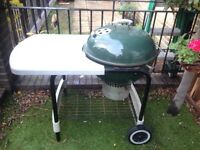 Large Webber coal barbecue barbeque BBQ with work top and a cover