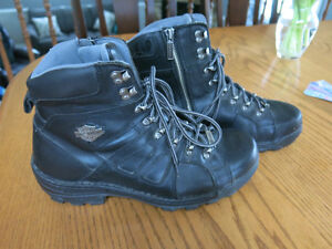 Mens leather Harley boots