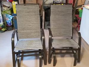 Chaises berçantes pour l'extérieur