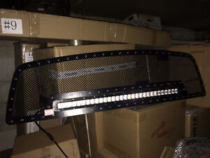 """09-12 RAM 1500 Grille with 1 row 30"""" LED Light Bar"""