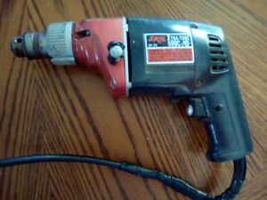 CORDED 3/8 HAMMER+CHISEL DRILL WITH KEY 25.00