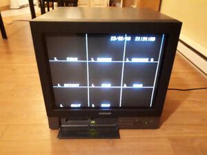 moniteur surveillance,récepteur,enregistreur HDD pour 8 caméra