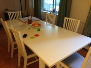 Large white dining set for sale