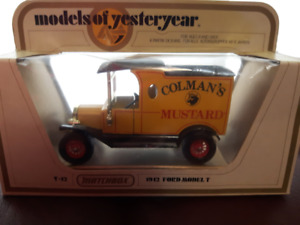 MATCHBOX MODELS OF YESTERYEAR COLMAN'S MUSTARD 1912 FORD MODEL T