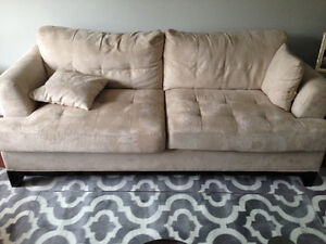 Microfiber couch and loveseat in great condition
