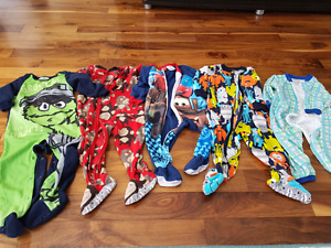 18 month boys pjs - 5 in total for $10
