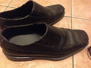 Two pairs of leather dress shoes