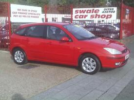 2004 04 Reg Ford Focus 1.8TDCi 115 Ghia 5 Door Red DIESEL,OUTSTANDING EXAMPLE,AC