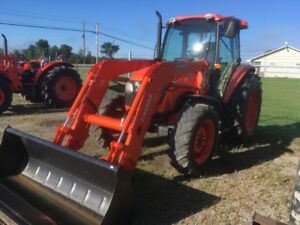 Kubota M8540 4WD cab and loader tractor