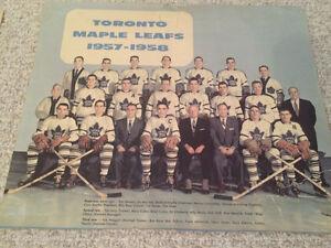 1956/57 NHL all stars rare 1957/58 Toronto maple leafs