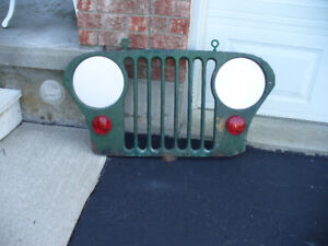 ORIGINAL VINTAGE JEEP FRONT GRILL WALL HANGER