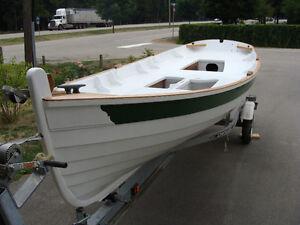 Clinker built boat