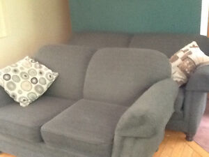 Love seat and couch