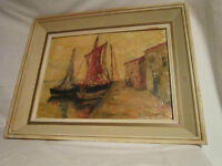 Slightly Damaged - Painting from 1964 - Artist Signed