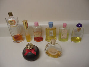 VINTAGE FRAGRANCE BOTTLES WITH PERFUME --- Lot #2