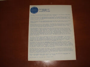 Vintage Official Star Wars Fan Club Newsletters & Letter Stratford Kitchener Area image 7