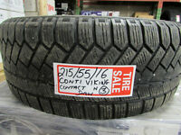 HILLYARD USED TIRES P215/55/16 CONTI VIKING CONTACT 3  USED SNOW
