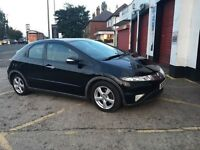 2008 Honda Civic CTDI 5door Hatchback,MOT,HPI Clear,S/History,97k miles, Pan Sunroof, Good Condition