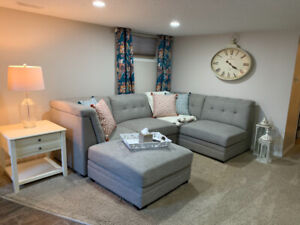 Fully furnished two bedroom suite