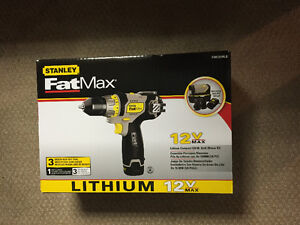 Brand New Stanley Fatmax 12v Compact Drill / Driver Kit