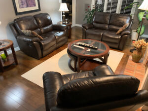 Living Room Set - Leather Recliners