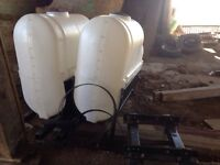 2 - 250gal saddle tanks with bracket