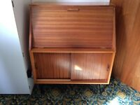 Retro 1960s writing bureau desk