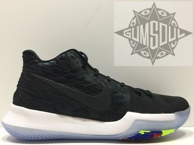 bf2798b37f4 NIKE KYRIE 3 TRIPLE BLACKOUT ICE BLACK IRVING 852395 009 sz 13.5