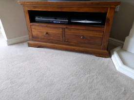 TV corner unit and 2 matching side tables.