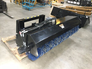 "New 72"" Rotary Broom Skid Steer Attachment"