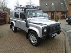 2006 Land Rover 110 Defender 2.5Td5 Double Cab Silver EDITION NO VAT