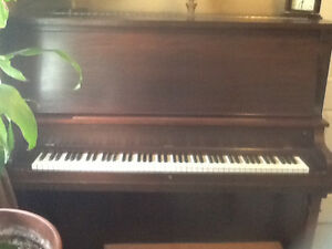 FREE Weber upright piano 1918ish in excellent condition.